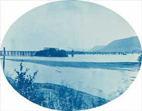 Ponton Bridge at Read's Landing, Minn., 1885.