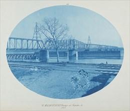 C.M. & St. P. RR Bridge at Sabula, Ia., 1885.
