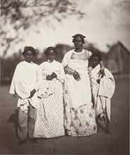 Femme Malgache et Ses Enfants (Madagascan Woman and Her Children) (Plate 3), 1863.