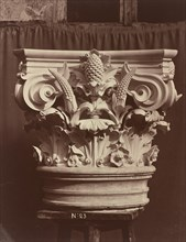 Ornamental Sculpture from the Paris Opera House (Column Fragment), 1865/1874.