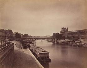 The Pont du Carrousel, Paris: View to the West from the Pont des Arts, 1856-1858.