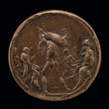 Classical Subject: Male Figure Carrying a Stag [obverse], 1470/1530.
