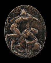 Mars Battling the Constellation Centaurus [reverse], model 1601, cast possibly before 1610.