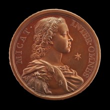 Prince Charles Edward Stuart, 1720-1788 (The Young Pretender, Bonnie Prince Charlie) [obverse], 1729.