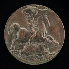 Meleager on Horseback (Boar Hunting) [obverse], late 15th - early 16th century.