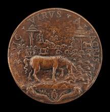 Unicorn in a Landscape [reverse], mid 16th century.