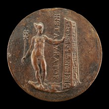 Mercury and a Broken Obelisk [reverse], c. 1545/1550.