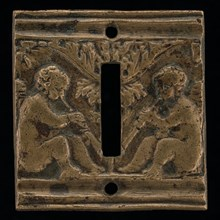Two Cupids with Flutes, 16th century.