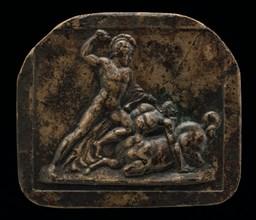 A Warrior Fighting a Centaur, 18th century.