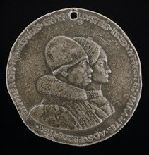 Rene d'Anjou, 1409-1480, King of Naples 1435-1442, and Jeanne de Laval, died 1498 [obverse], 1463.
