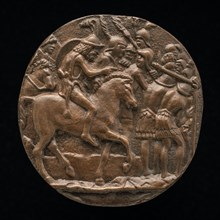 Romans Passing Under the Yoke, late 15th - early 16th century. Defeated enemies were made to pass under a yoke of spears to humiliate them or remove blood guilt.