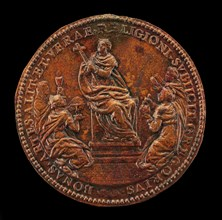 Religion Enthroned between Theology, Astronomy, Philosophy, and Literature [reverse], 1582.
