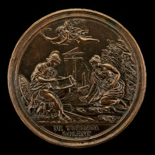 Allegory with Minerva, Time, and a Sybil [reverse], 1725.