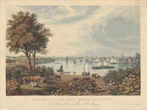 Baltimore Taken near Whetstone Point, published 1831.