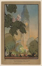 The Metropolitan Tower on A Summer Evening, 1914.
