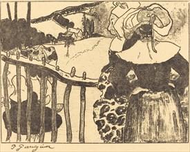 Breton Women beside a Fence (Bretonnes à la barrière), 1889.