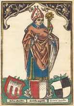 Bishop of Augsburg with Three Coats of Arms, c. 1485.