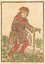 Man Walking Towards a Grave, c. 1495.