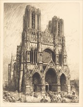 Reims Cathedral (Cathedrale de Reims), 1911.