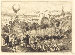 The Falling Balloon, in Pre-Saint-Gervais (Lebaloon qui tombe, au Pre-Saint-Gervais), 1910.