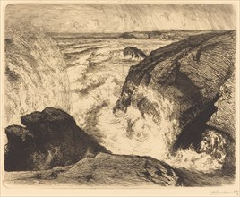 Spring Tide, Rocks of Zion (Grande maree, rochers de Sion, Vendee), 1907.