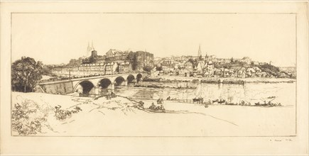 Angers - Panoramic View (Angers - Vue panoramique), 1912.