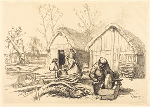 The House of the Woodcutter, Vendee (La maison du bucheron, Vendee), 1915.