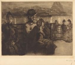 Sur la Seine, la nuit, 1888.