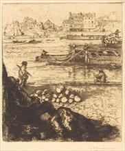 Dockman, Pier at La Gare (Le debardeur, quai de La Gare), 1894.