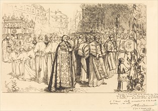 Return of the Procession to Nante Cathedral (Rentree de la Procession a la Cathedral de Nantes), 1901.