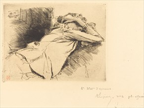 Reclined Woman Sleeping (Femme couchee sommeillant), 1892.