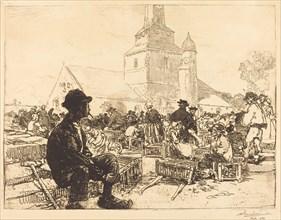 Poultry Market at St.-Jean-de-Mont (Marche a la volaille, a St.-Jean-de-Mont), 1892.