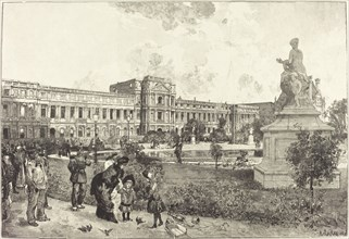 Les ruins du Palais des Tuilleries avant leur démolition, 1883.