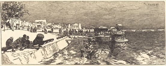 Pier at Bercy (Embarcadere a Bercy), 1890.