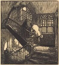Escalier de la maison ou etait le Chateau Rouge, published 1901.