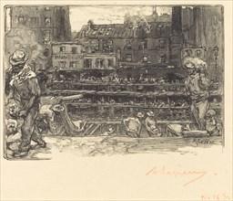 Unloading, Canal St. Martin (Les dechargeurs de platre, Canal Saint-Martin), 1890.