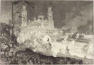 14 Juillet. Illumination du Palais du Trocadéro, 1883.