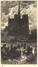 Watering-place behind Notre-Dame (L'abreuvoirderriere Notre-Dame), 1897.