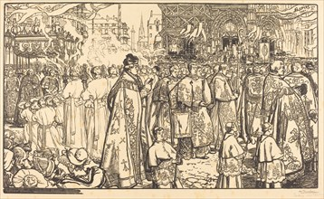 Corpus Christi Procession at Nantes (Procession de la Fete Dieu a Nantes), 1901.