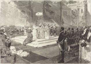 Baptême royal à la Cour d'Espagne, 1882.