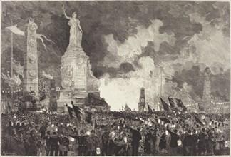 14 Juillet. Illumination de la Place de la République, 1883.