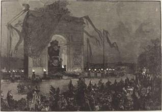Funérailles de Victor Hugo. La Veillée, 1885.
