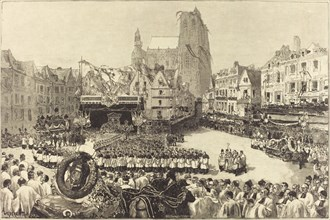 Les Funérailles de L'Amiral Courbet, 1885.