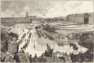 Les Honneurs militaires rendus à la Depouille mortelle de L'Amiral Courbet, 1885.