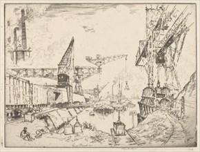Cranes at Duisburg, 1910.
