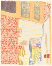 Interior with Pink Wallpaper II (Interieur aux tentures roses II), c. 1896 (published 1899).