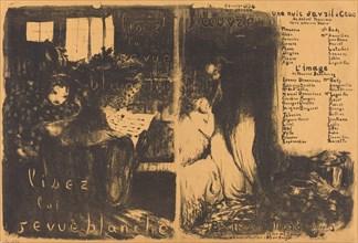 Lisez la revue blanche; Un nuit d'Avril Ceos, L'image, 1894.