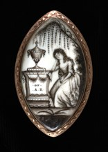 Mourning Locket for A. R., ca. 1780.