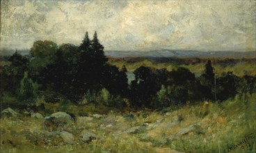 Untitled (landscape, fields with rocks and trees), 1893.