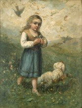 Child with Birds and Dog, 1882.